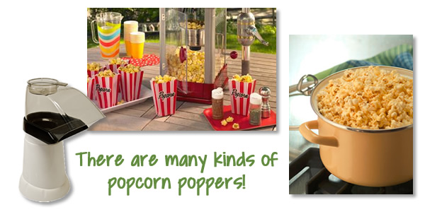 variety of popcorn poppers
